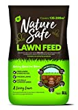 Nature Safe Fertilizer Lawn Feed & Seed 10kg, Brown