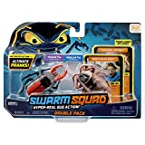 Swarm Squad Double Pack Set – Contains Two Hyper-Realistic Motorized Bug Toys That are Ready to Prank (Cockroach vs. Stag Beetle), Multi