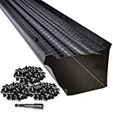 LeafTek 5' x 200' Gutter Guard Leaf Protection in Black | DIY Premium Contractor Grade 35 Year Aluminum Covers | Packages of 32', 100', 200' | 5 or 6 Inch | Made in The USA