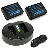 Wasabi Power LP-E12 Battery (2-Pack) and Dual USB Charger for Canon EOS M, EOS M10, EOS M100, EOS M200, EOS M50, EOS Rebel SL1 (EOS 100D), PowerShot SX70 HS