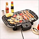 Sisliya Barbecue Grill Grilling Machine Charcoal Electric Dual-Purpose Household Outdoor Multi-Function Double Electric Oven 2000W Barbecue