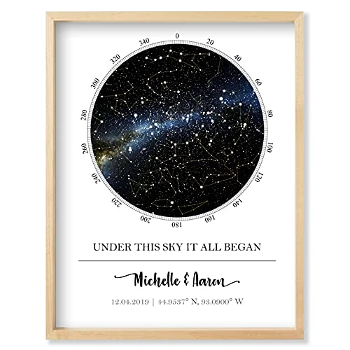 Custom Star Map - Personalized Star Map (Multiple Sizes -...