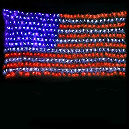 American Flag Lights with 420 Super Bright LEDs,KAZOKU Waterproof...