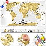 Scrape Off World map - carte du monde à gratter; poster XXL carte du monde...