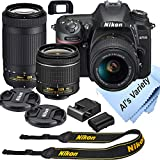 Nikon D7500 DSLR Camera Kit with 18-55mm VR + 70-300mm Zoom Lenses | Built-in Wi-Fi | 20.9 MP CMOS...