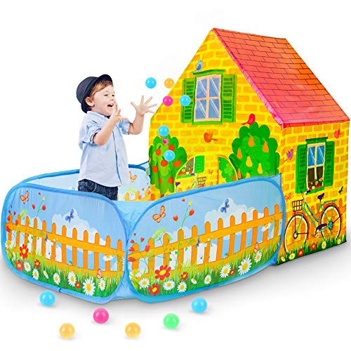 SkyNature-Kids-Play-TentPop-Up-Tent-with-Ball-Pit-for-Girls-Boys