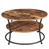 VASAGLE Table Basse, Table de Salon, Buffet Bas, 2 Niveaux, avec Étagère de...