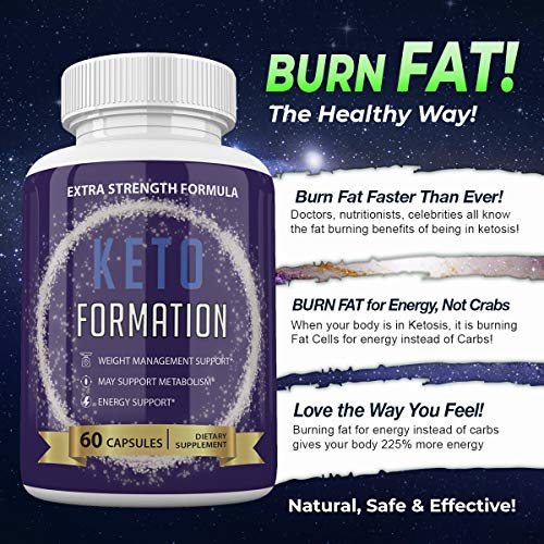 Keto Formation Extra Strength Formuila - Energy - Weight Management and Metabolism Support - 6o Capsules - 1 Month Supply 2