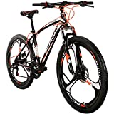 Max4out Mountain Bike 21 Speed with High Carbon Steel Frame, 26 inch Wheels, Double Disc Brake,...
