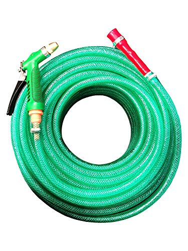 GARBNOIRE Heavy Duty 3 Layered Braided Water Hose Pipe (Size : 0.5 inch, Length : 15 Meters (50...