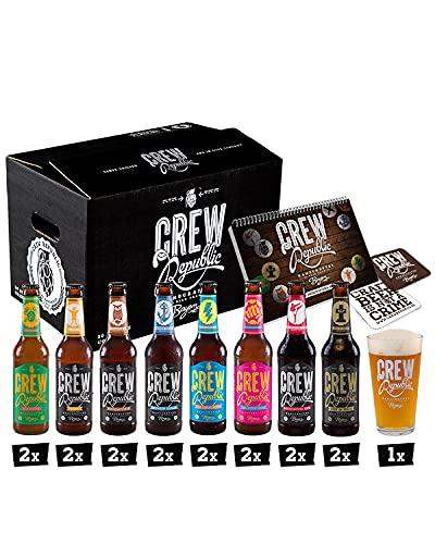CREW REPUBLIC® Craft Bier Mix Probierset | Ideales Geschenk für Männer | Bierspezialitäten aus...