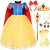 FUNNA Costume Princess Dress for Toddler Girls Party with Accessories, 4-5T