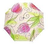 Paraguas automático de Flores de Acuarela de Estilo Elegante Pintado de Negro Paraguas Soleado día lluvioso - Rosa Claro