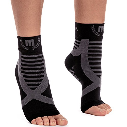 Mava Sports Ankle Support (Black & Gray, Large)