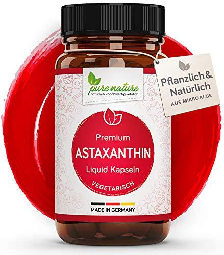 100{09d46c270bf3358bd72ac119a30a7ef3bddfc2fc35b1e952e24f3084c369cd4d} VEGETARISCH: Premium Astaxanthin I 60 pflanzliche Kapseln | 4 mg | Höchste Bioverfügbarkeit | Aus Mikroalge mit Vitamin C & E | Antioxidant