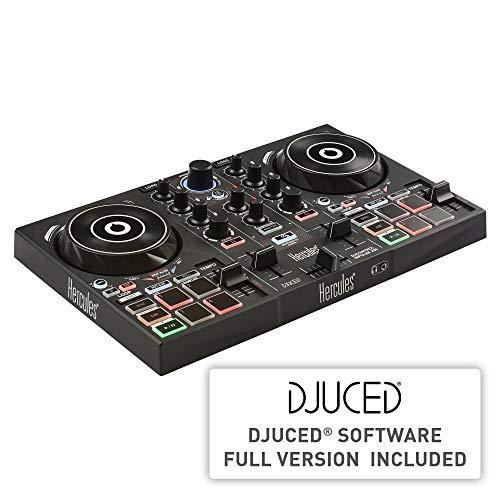 Hercules DJControl Inpulse 200  Controller per DJ con USB, ideale per i meno esperti per imparare il mix - 2 tracce con 8 pad e scheda audio - Software e tutorial inclusi