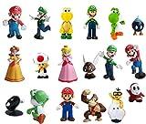 smileh Figurine Super Mario Figurine de Fête d'anniversaire Mario Décoration...