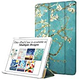 DuraSafe Cases for iPad Air 2 Gen 2014-9.7 Inch [ A1566 A1567 ] Trifold Smart Cover with Dual Angle Stand - Blossom