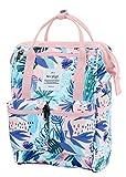 HotStyle DISA Mochila Mini Bolsa Pañal Viajar Mujer | 35x23x15cm | Tropical, Rosa