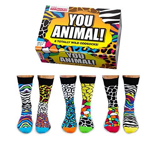 You Animal Calzini spaiati numero 3946in un set da 6 Calzini a temaanimali selvatici