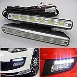 2pcs x 6 COB LED feux/lampe/ampoule de voiture Diurne de Conduite DRL TFL...