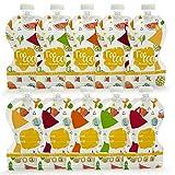 Sweety Fox - Lot de 10 Gourdes Réutilisables 150ml - No PVC et BPA - Double Zip Hermétique Parfait...