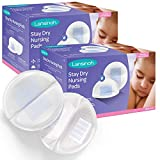 Lansinoh Stay Dry Disposable Nursing Pads, 200 Count (2 Packs of 100), Superior Absorbency, Ultra...