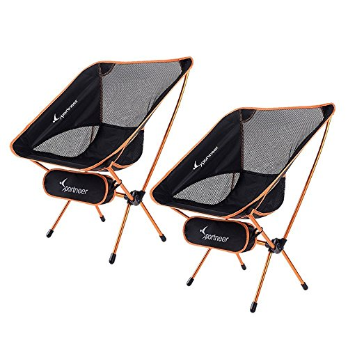 3. Sportneer Portable Lightweight Ice Fishing Chair, 2-Pack