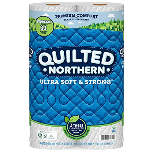 Quilted Northern Ultra Soft & Strong Earth-Friendly Toilet Paper, 24 Supreme Rolls, 340 2-Ply Sheets Per Roll (Packaging May Vary)