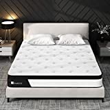 Queen Mattress, Avenco Queen Size Mattress Firm, 10 Inch Hybrid Queen Mattress in a Box, 5 Zone Pocket Innerspring and Memory Foam, Edge Support and Back Pain Relief, CertiPUR-US, 100 Nights Trial