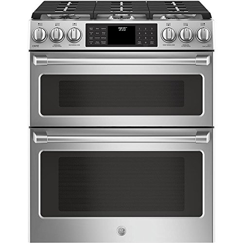 GE Cafe CGS995SELSS 30 Inch Slide-in Gas Range with Sealed...