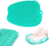 Kresal Foot Massager Foot Apple-Shaped Foot Massage pad Shower Foot Clean scrubbing Scrubber Easy to Fall Off Bath Pumice Hydrotherapy Massager