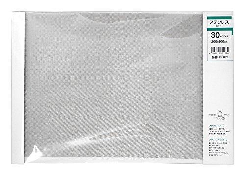 久宝金属製作所 ステン(SUS304)板 メッシュ 30m/sX巾200X300mm E9107