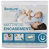 Bedsure Zippered Waterproof Mattress Encasement Full/Double(6-9 inches Deep Pocket) - Fitted Mattress Cover, Mattress Protector - 6 Sided, Breathable, Washable