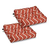 Classic Accessories Water-Resistant 19 x 19 x 5 Inch Square Patio Seat Cushion, Brick Chevron, 2-Pack