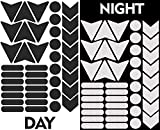 40pcs High Visibility Warning Reflective Stickers Kit Decals Black Reflector Highly Night Safety Sign Visibility Universal Self - Adhesive D 46