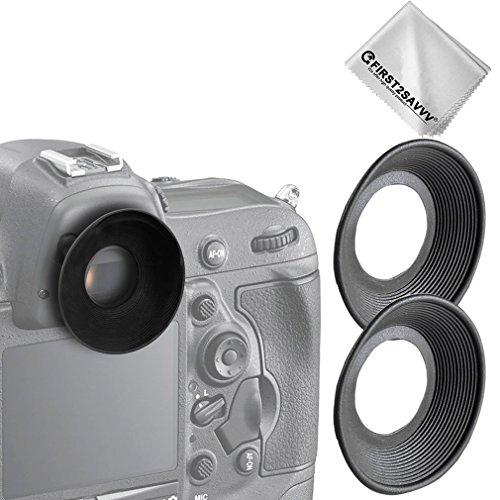 First2savvv 2 X DSLR reemplazo tapa del ocular y el ocular para Nikon D610 D600 D300S D7200 D7100 D7000 D90 D300 D200 D80 D70 D70S D60 DSLR Camera DK-21 DK-23 + Paño de limpieza - QJQ-OX-N-X2-01G11