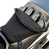 Badass Moto Motorcycle Seat Cushion - Air Filled Motorcycle Seat Pad Butt Protector - Breathable Motorcycle Seat Cover Reduces Pressure and Fatigue. Makes Long Rides More Comfortable.