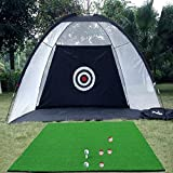 Indoor Outdoor Golf Practice Net Golf Hitting Cage Garden Grassland Practice Tent Golf Training Equipment Zmpek (Color : Black)
