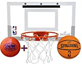 Spalding NBA Slam Jam Mini Basketball Hoop Deluxe Set with Exclusive 'Matty's Toy Stop' 4' Vinyl Basketball