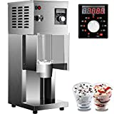 VEVOR 110V Ice Cream Blizzard Maker, 800W Electric Blizzard Ice Cream Machine 10-Speed Levels Adjustable, Commercial Blizzard Maker w/Splash-Proof Bezel, Blizzard Machine, Includes 3 Hand Cups
