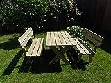 Platan Room Gartenmöbel aus Kiefernholz Gartenbank Gartentisch Kiefer Holz massiv - 5