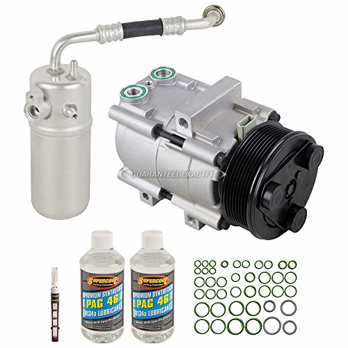 AC Compressor & A/C Kit For Lincoln Navigator Blackwood & Ford Expedition 1998 1999 2000 2001 2002 - BuyAutoParts 60-80183RK New