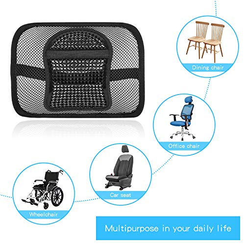 """Product Image 2: ACVCY Lumbar Mesh Support for Office Chair or Car Seat, Breathable Comfortable Back Support for Office Chair Lumbar Support Cushion for Car Seats Office Chair Car Lumbar Cushion 12"""" x 16"""""""