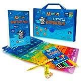 Mimtom Plantillas de Dibujo Kit de Manualidades para niños y Chicos con 240 Figuras   Plantillas para Pintar Que desarrollan la Creatividad   Desde los 4 años