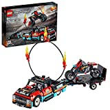 LEGO Technic Truck e Moto dello Stunt Show, con Azione 'pull-Back', con 2 Modelli da Costruire ed Infinite Possibilità di Gioco, per Ragazzi +8 Anni, Appassionati e Collezionisti, 42106