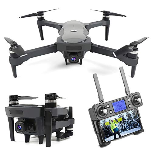 Drone GPS con Fotocamera Zoom 4K UHD 50x, 5G WiFi FPV Video Live Video UAV con Motore Brushless, Distanza RC 1800m, Dual Battery, Best Regalo per Adulti e Bambini