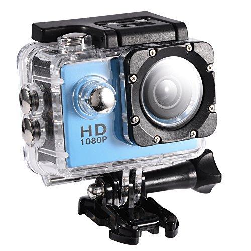 VBESTLIFE Action Cam Videocamera Subacquea Ultra HD Sport Action Camera Mini DV con Custodia Impermeabile da 7 Colori(Blu)