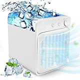 Portable Air Conditioner, Personal Evaporative Cooler Air Conditioner Fan, Cordless&Rechargeable Personal Air Cooler for Room and Office