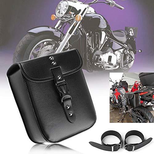 1 x Motorrad kleine Seite Satteltasche PU Leder Wasserdicht Motorrad Tankrucksack Seitengepäck Schwarz